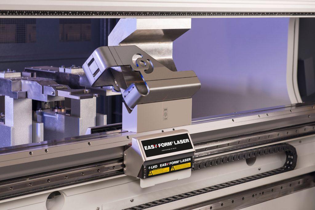 Image showing ES3's LVD Easyform press brake folding some sample sheet metal parts.